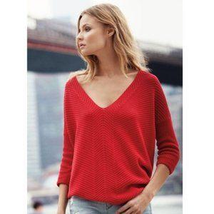 Rib Red Express London Sweater